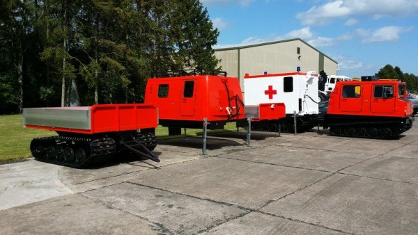 The Hagglunds BV206 complete with multiple interchangeable bodies