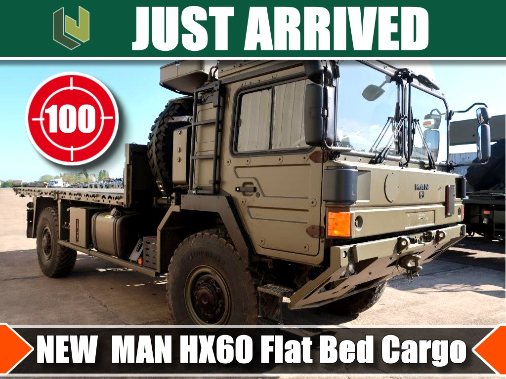 ARRIVED  additionally 100 new MAN HX60  Flat Bed trucks