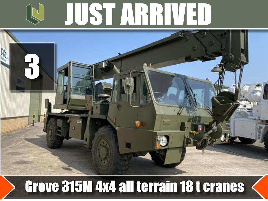 Just arrived 3 Grove 315M 4x4 18 ton cranes