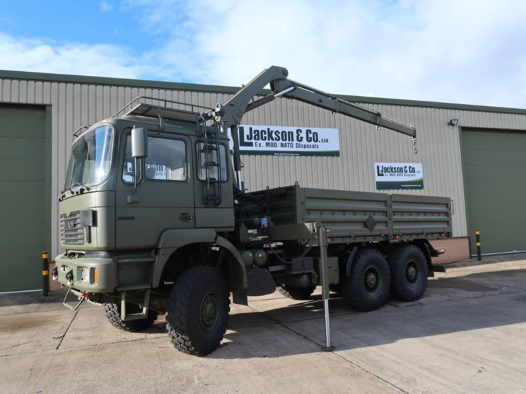 Just come in Man 27.314 6x6 LHD Drop side cargo truck with crane