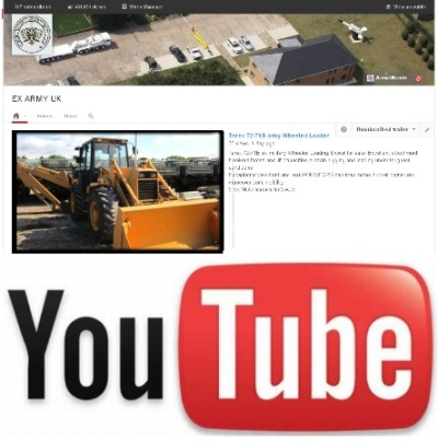 Watch our latest video on YouTube of the Hydrema 806 EX. Military Back hoe Wheeled loader