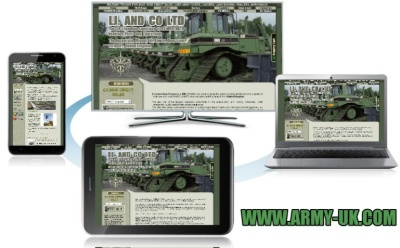 Finished  updating the www.army-uk.com website