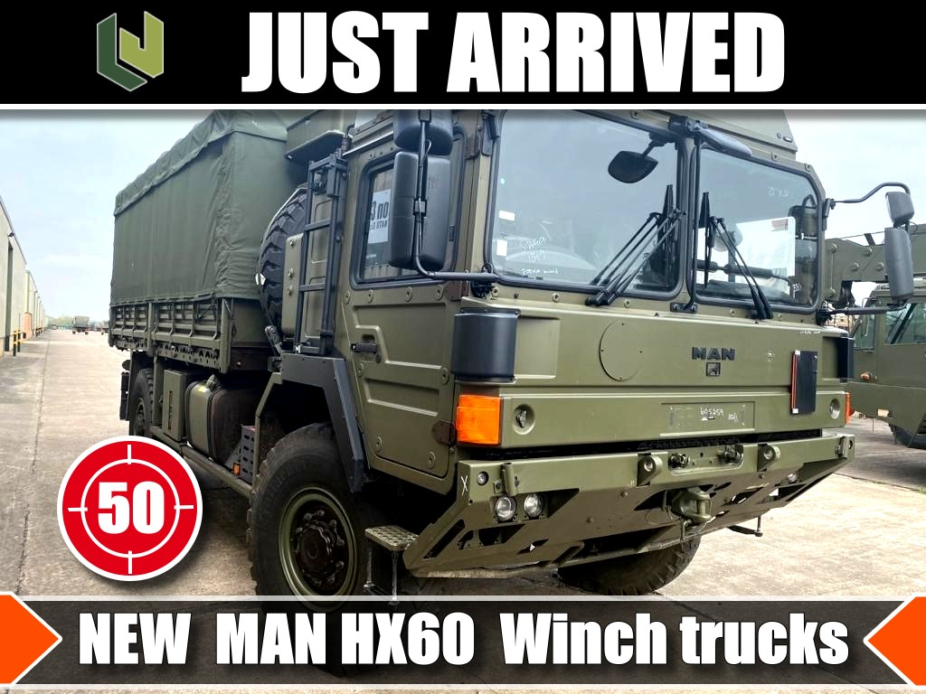 JUST ARRIVED 50 Unused MAN HX60  Winch Trucks