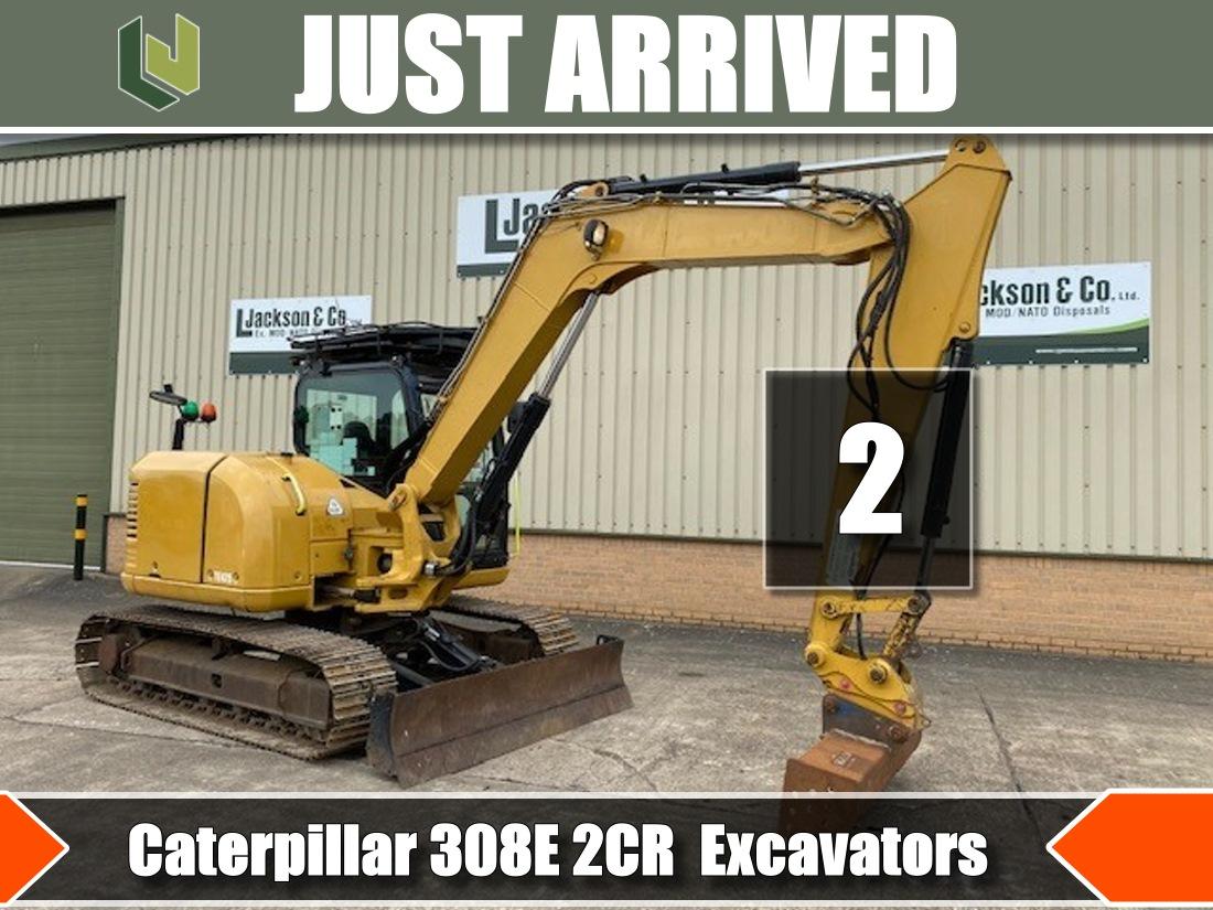 Just arrived 2x Caterpillar 308E 2CR Excavators