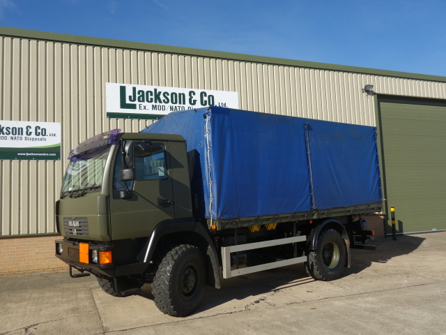 Just arrived MAN 10.185 4x4 drop side cargo truck