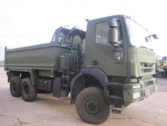 4 x Iveco trakker 6x6 RHD ex. military tippers trucks for sale