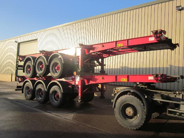 Were sold all 6x SDC skeleton container trailers продано
